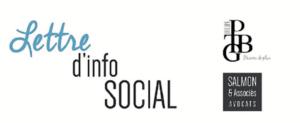 Lettre d'info SOCIAL PTBG Salmon & Associés AVOCAT